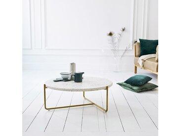 Table basse ronde en métal et terrazzo 80 Anatole confetti