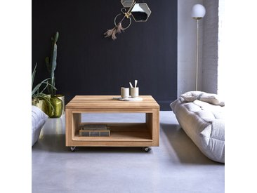 Table basse en bois de teck 80 Anoa square