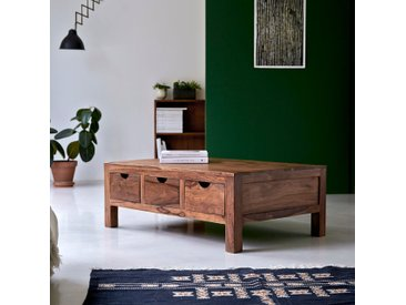 Table de salon en bois de palissandre 110x75 Oliver
