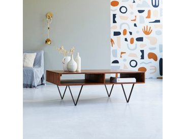 Table basse en bois de palissandre 115x70 Metric
