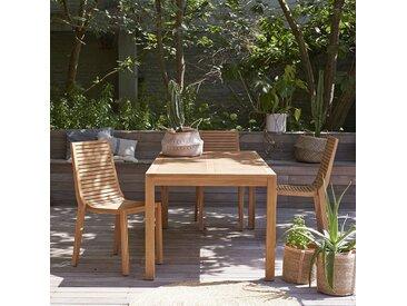 Table de jardin en bois de teck 180 Teo