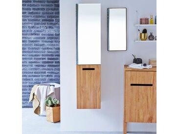 Colonne miroir à suspendre en bois de teck 130 Line