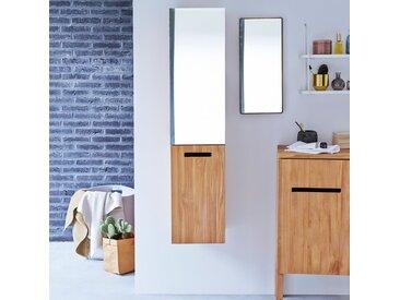 Colonne miroir en bois de teck 130 Line