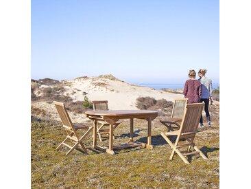 Table de jardin ovale en bois de teck 160 Capri