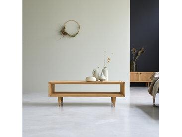 Table basse en bois de chêne 120x50 Jonàk
