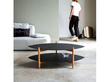 Table basse en bois de teck et métal 110x70 Lisa