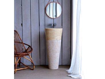 Vasque de salle de bain sur pied en marbre Koni Cream