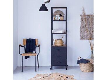Colonne de salle de bain en métal et bois de manguier 170 Industriel