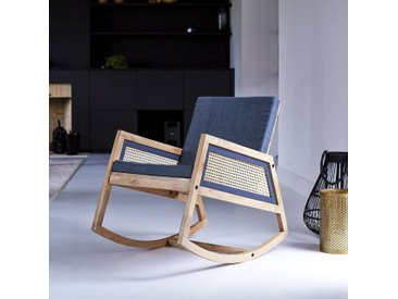 Rocking chair en bois de manguier Rafael