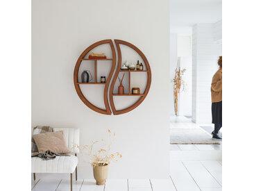 Etagère murale en bois de teck 100 Ying Yang
