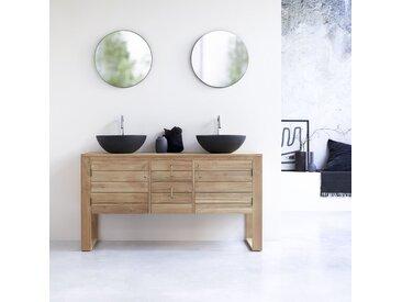 Meuble sous vasque en bois de teck 145 Minimalys