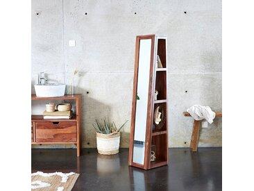 Colonne miroir oblique en bois de palissandre 30 Twig