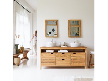 Meuble Salle de bain en chêne massif 165 Serena
