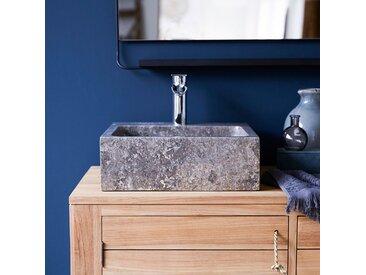 Vasque de salle de bain en marbre Slats grey