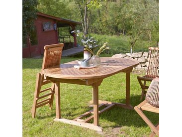 Table de jardin ovale en bois de teck 180 Capri