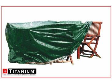 Housse de protection indéchirable pour table ovale - VERT - 90 grs/m² - 210 x 150 x 85 cm