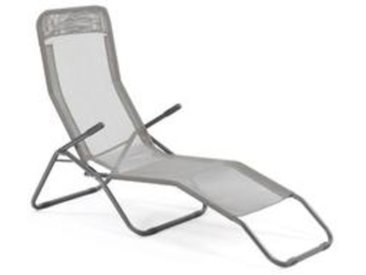 Chaise longue en alu 2 positions - Seigle