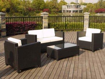 Ensemble bas ATLANTA - 1 table basse + 2 fauteuils + 1 canapé 2 places