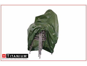 Housse de protection indéchirable pour pile de chaises - VERT - 90g/m² - 67 x 67 x 109 cm