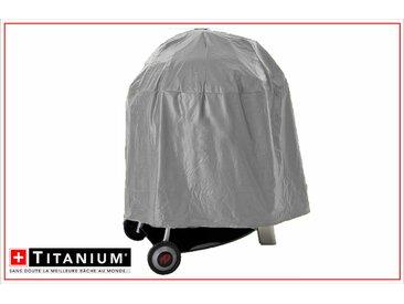 Housse de protection indéchirable pour barbecue rond - ARGENT - 90grs/m² - 65 x 75 cm