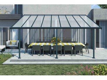 Pergola en aluminium gris - PALRAM - 3x5m