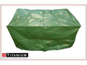 Housse de protection indéchirable pour barbecue rectangle - VERT- 90g/m²