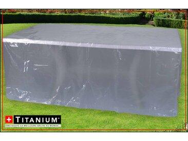 Housse de protection indéchirable pour table rectangulaire - ARGENT- 90 grs/m² -  250 x 200 x 90 cm