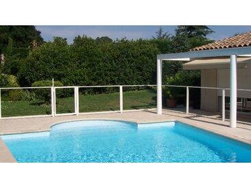 Portillon transparent pour clôture de piscine