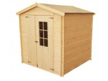 Chalet en bois 19 mm et toit en polypropylène - 4m²