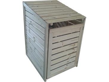 Coffre en bois pour poubelle (cache-poubelle)