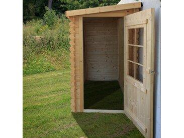 Abri en bois adossé - PERVENCHE - 2,56m² + Lampe solaire OFFERTE