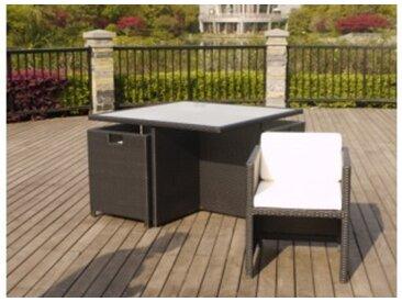 Ensemble NEVADA - 1 table + 4 fauteuils