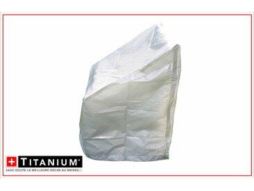 Housse de protection indéchirable pour pile de chaises - ARGENT - 90grs/m² - 67 x 67 x 109 cm