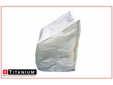 Housse de protection indéchirable pour pile de chaises TITANIUM® - 67 x 67 x 109 cm