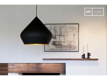 Lampe suspendue bombé noire Liselotte