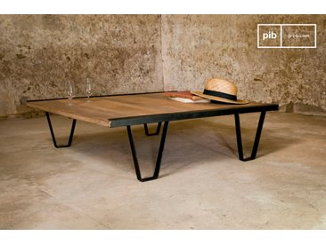 Table basse industrielle Bay Teck