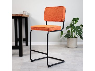 Remo Tabouret De Bar Industriel Orange