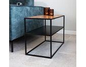 Valerie Table De Chevet Industrielle Bois 40x40 cm