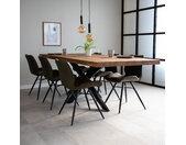 York Table À Manger Industrielle Bois 240x100 cm Pieds-Araigné