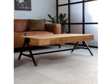 Avia Table Basse 120 x 70 x 40 cm Industriel - Bois Massif Rectangle