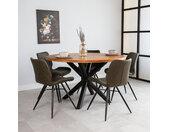 Denver Table À Manger Industrielle Rond Ø130 cm