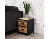 Curtis Table De Chevet Industrielle Bois 46x35 cm
