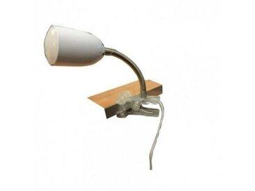 LAMPE PINCE METAL BLANC