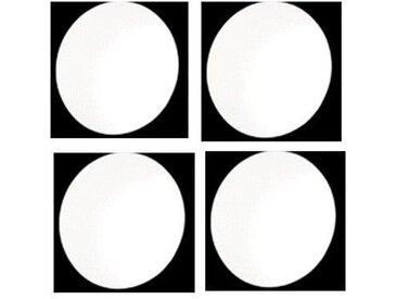 Lot 4 miroirs adhésifs 30x30 cm rond