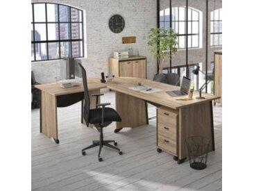 Bureau complet + caisson 3 tiroirs Gregory - Fabrication française - Camif