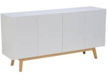 Buffet style scandinave 4 portes avec tiroirs Wildan - Tilleul massif - Camif