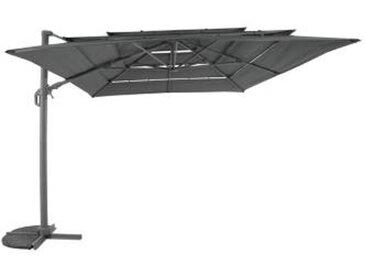 Parasol 3X4 Ventilé inclinable  orientable 3x4m gris quartz MEDICIS - Camif