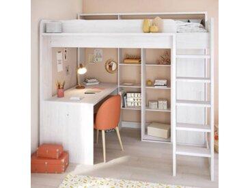 Lit mezzanine Pierrick - Lit, Rangements et Bureau - Camif