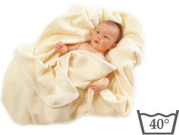 Couverture pour bébé en laine Mérinos - Lavable en machine