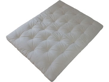 Matelas Futon Traditionnel - Revêtement 70% lin 30% coton - 10 cm